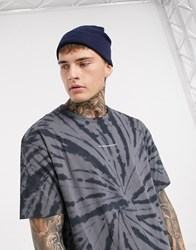 Good For Nothing Spiral Tie Dye T Shirt In Grey