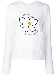 Chinti And Parker He Loves Me Sweatshirt White