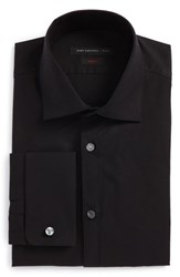 John Varvatos Men's Star Usa Slim Fit Stretch Solid Dress Shirt Black