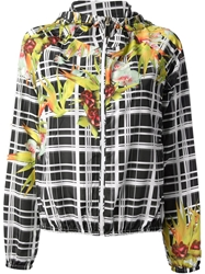 Pinko Check Floral Jacket Black