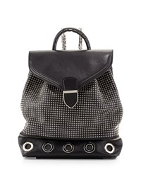 Legend Studded Chain Strap Backpack Black Alexander Mcqueen