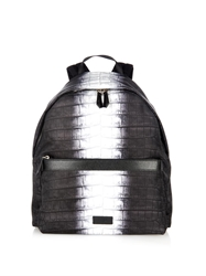 Fendi Code Crocodile Print Nylon Backpack