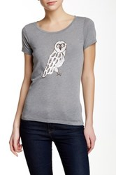 J.Crew Factory Sequin Owl Tee Multi