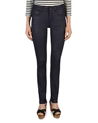 Gerard Darel Pixie Coated Straight Leg Jeans In Blue