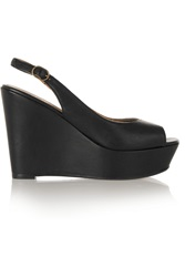 Penelope Chilvers Flow Leather Wedge Sandals