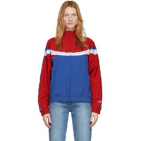 Champion Reverse Weave Red And Blue Full Zip Track Jacket