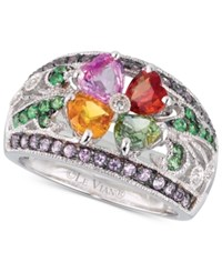 Le Vian Multi Gemstone 2 3 4 Ct. T.W. And Diamond Accent Ring In 14K White Gold