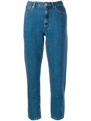 A.P.C. Tapered Cropped Trousers Blue