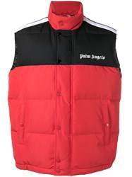Palm Angels Oversized Vest Red