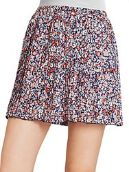 Bcbgmaxazria Pleated Skort Hot Coral