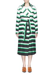 Emilio Pucci Oversized Stripe Coat Multi Colour