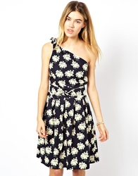 Trollied Dolly One Shoulder Dress Blackdaisybunch