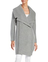 Badgley Mischka Nikki Wool Blend Coat Grey