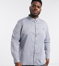 French Connection Essentials Plus Oxford Shirt In Blue