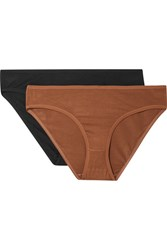 Baserange Bell Set Of Two Stretch Bamboo Briefs Black