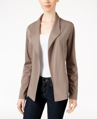 Styleandco. Style Co. Open Front Blazer Only At Macy's Warm Taupe