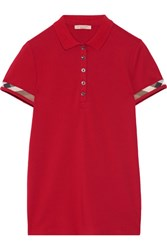 Burberry Brit Stretch Cotton Pique Polo Shirt Claret