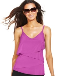 Magicsuit Chloe Tiered Tankini Top Women's Swimsuit Orchid Purple
