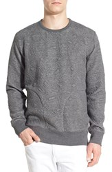 Men's French Connection 'Scars' Quilted Crewneck Sweatshirt