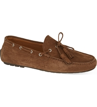Ralph Lauren Harold Suede Tassel Loafers Brown
