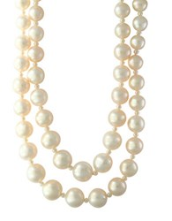 Effy 10Mm Freshwater Pearl Double Layered Necklace White