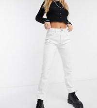 Reclaimed Vintage The '95 Straight Leg Jean In Ecru With Contrast Stitch White
