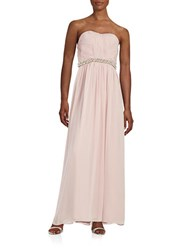 Calvin Klein Embellished Strapless Gown Petal