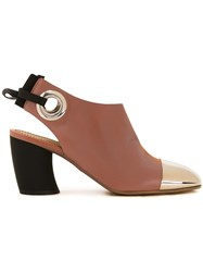 Proenza Schouler Toe Cap Booties Brown