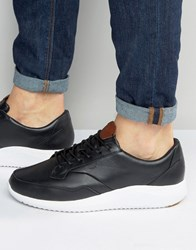 Boxfresh Rily Leather Trainers Black