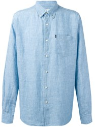 Barbour Button Down Frank Shirt Blue