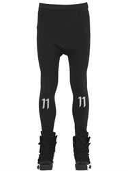 11 By Boris Bidjan Saberi Logo Printed Lycra Leggings