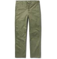 Outerknown Playa Organic Cotton Twill Chinos Army Green