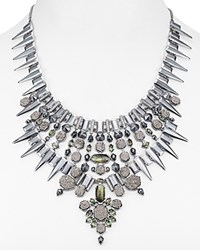 Kendra Scott Seraphina Statement Bib Necklace 38 Gray Multi