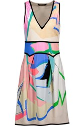 Roberto Cavalli Printed Stretch Crepe Mini Dress Multi