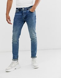 Good For Nothing Slim Jeans In Mid Wash Blue