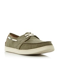 Toms Culver Linen Boat Shoe Green