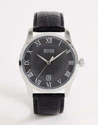 Boss 1513585 Master Leather Watch Black