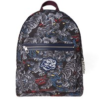 Kenzo All Over Tiger Backpack Grey