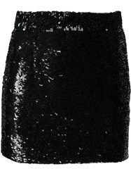 Ashish Sequin Mini Skirt Black