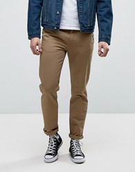 Fred Perry Pique Chinos In Tan Bronze