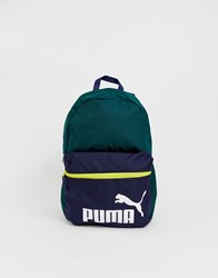 Puma Phase Colour Block Backpack In Green 5501c90468b56