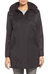 Women's Cole Haan A Line Raincoat With Removable Hood And Liner