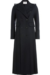 Valentino Wool Long Coat Blue