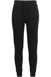 Enza Costa Woman Cotton And Cashmere Blend Track Pants Black