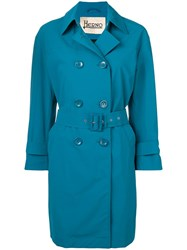 Herno Mid Length Trenchcoat Blue