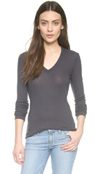 Wilt Ribbed Deep V Neck Tee Twilight