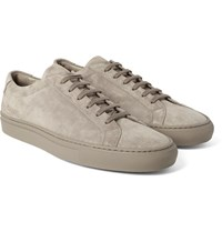 Common Projects Original Achilles Suede Sneakers Taupe