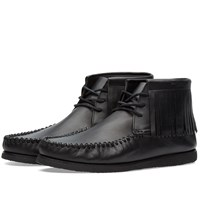 Saint Laurent Fringe Moc Boot Black