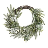 Amara Deco Frosted Berry Wreath Green White