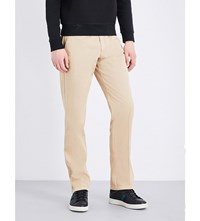 Armani Collezioni Regular Fit Stretch Cotton Chinos Beige